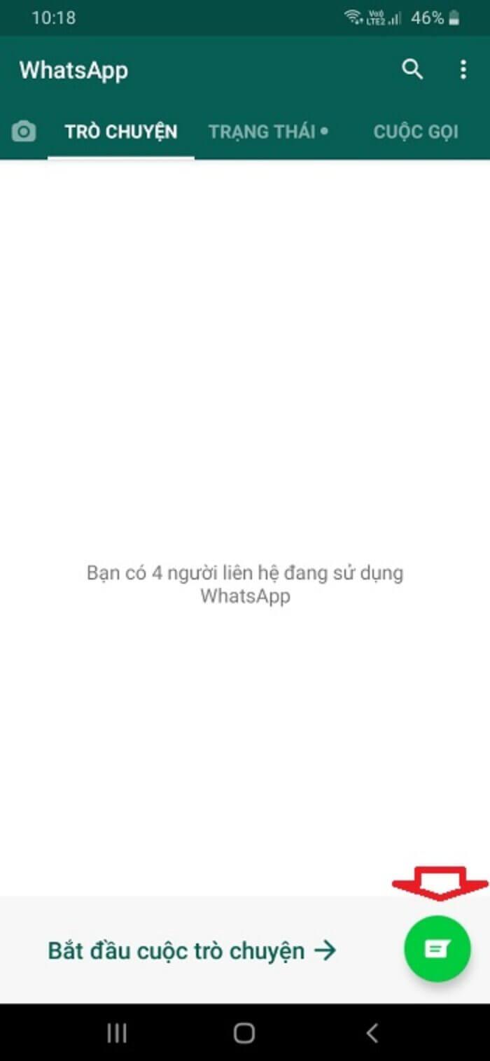 Bắt đầu cuộc trò chuyện trong Whatsapp
