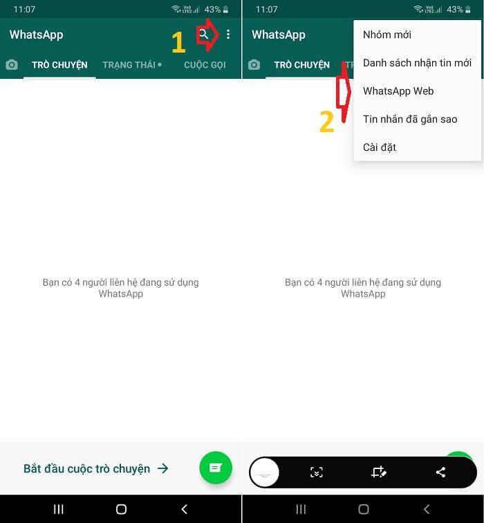 Sử dụng WhatsApp trên máy tính của bạn