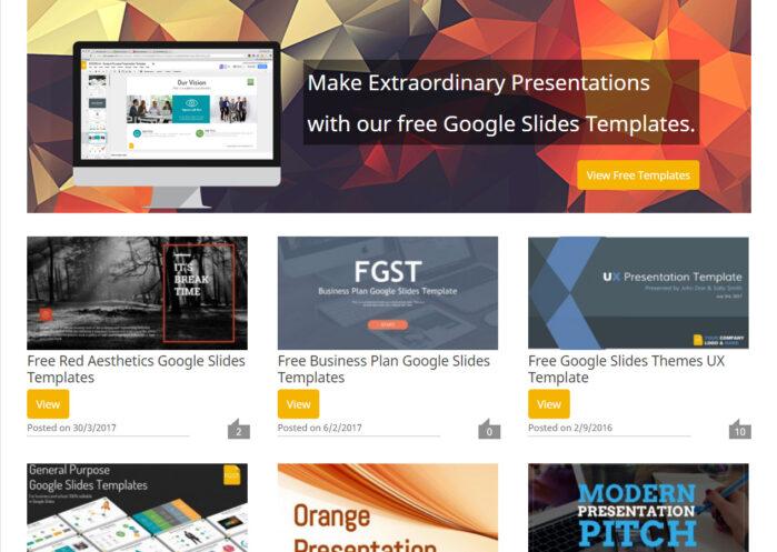 Các mẫu của Google Slides Templates rất phong cách và miễn phí bản quyền,