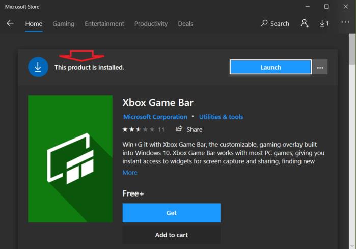 tải xuống ứng dụng Xbox Game Bar