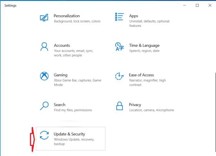 Mở ứng dụng cài đặt PC bằng cách nhấn phím tắt Win+ I