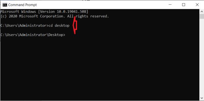 thiết lập màn hình desktop của bạn thành thư mục làm việc hiện tại.