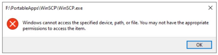 Lỗi khi mở ứng dụng bị chặn