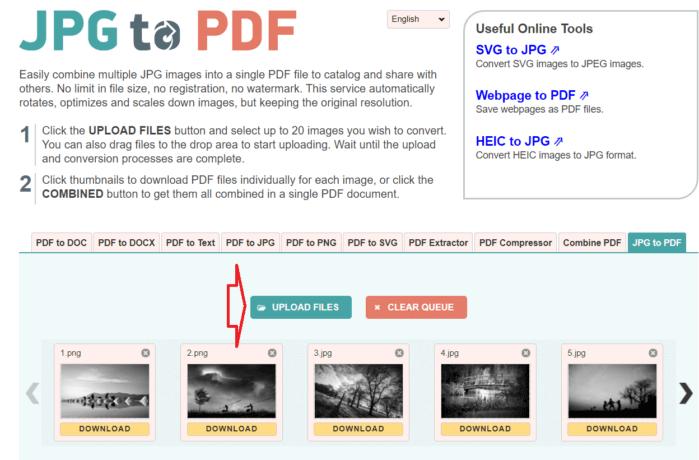 JPG to PDF là một công cụ chuyển đổi PDF