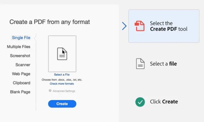 Sử dụng Adobe Acrobat để tạo tệp PDF
