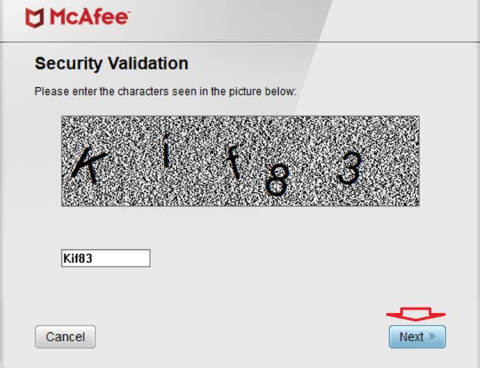 nhập mã xác thực trong hình ảnh để chạy chương trình