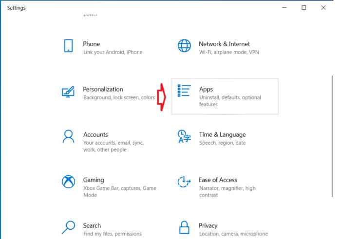 bạn nhấn Windows + I để mở Settings