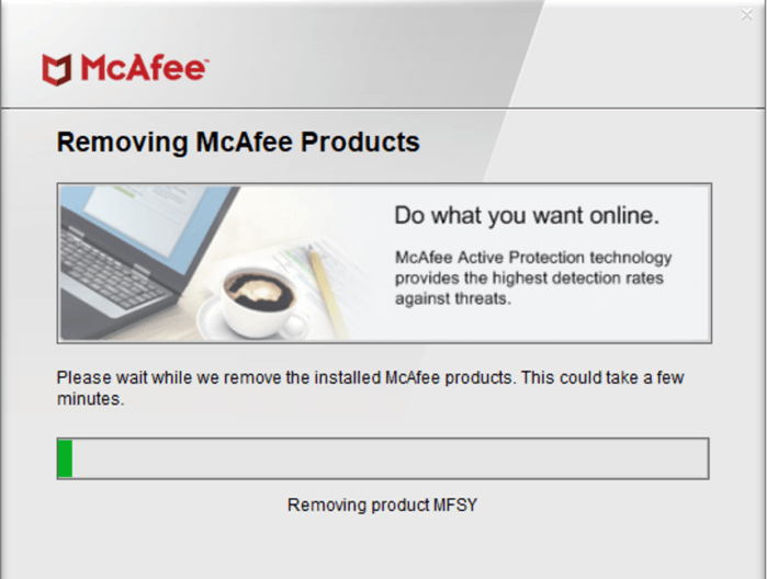 Gỡ cài đặt McAfee Antivirus