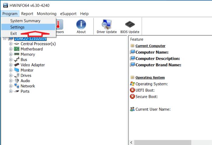 Khởi động HWiNFO cùng với Windows