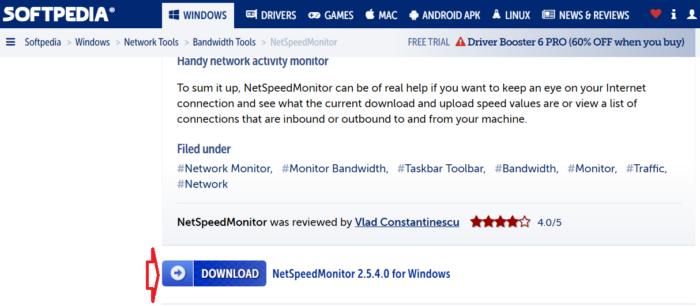 Tải và cài đặt NetSpeedMonitor