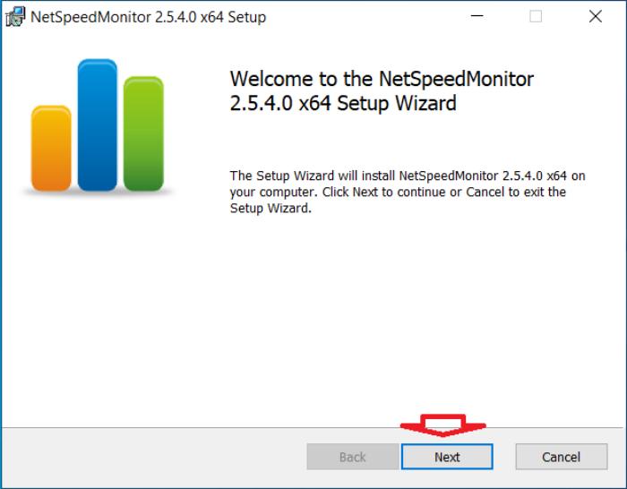 cài đặt NetSpeedMonitor giống như bất kỳ ứng dụng Windows nào khác