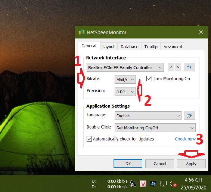 chọn Mbit/s từ menu thả xuống bên cạnh Bitrate