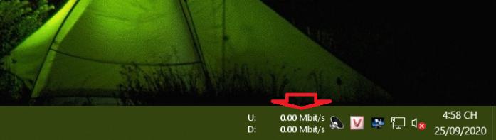 công cụ theo dõi băng thông đang sử dụng megabit/giây để đo tốc độ