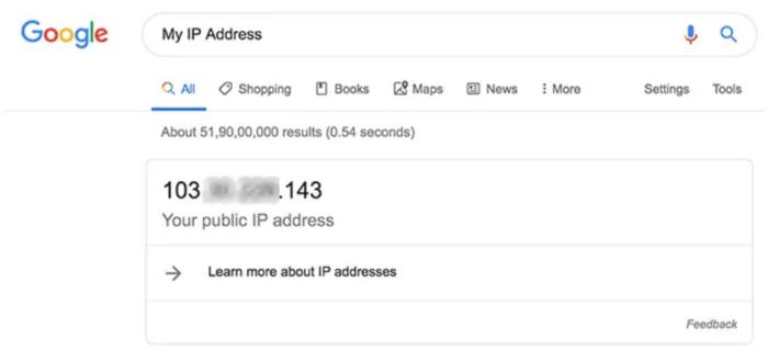 Tìm IP công cộng của máy Mac