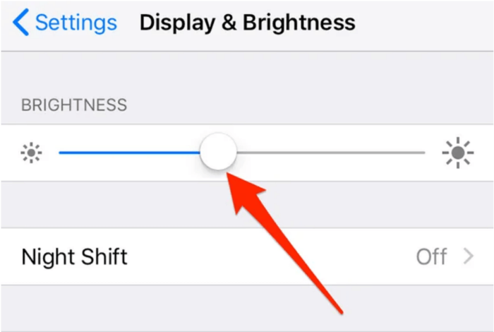 thay đổi mức độ sáng của mình iphone