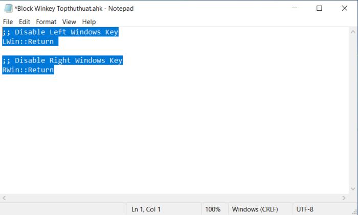 Nhấn Ctrl + S hoặc nhấn nút File => Save để lưu lại