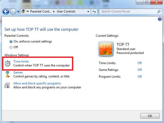 Thiết lập thời gian hoạt động của máy tính