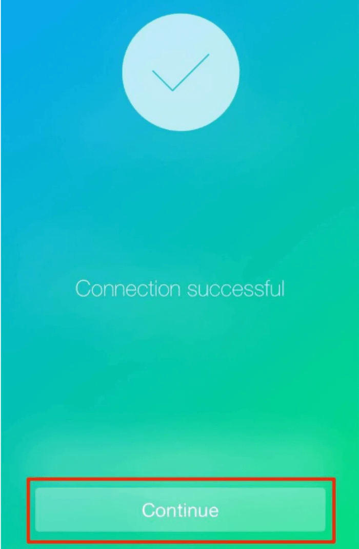 The iPhone connected successfully to the Mac