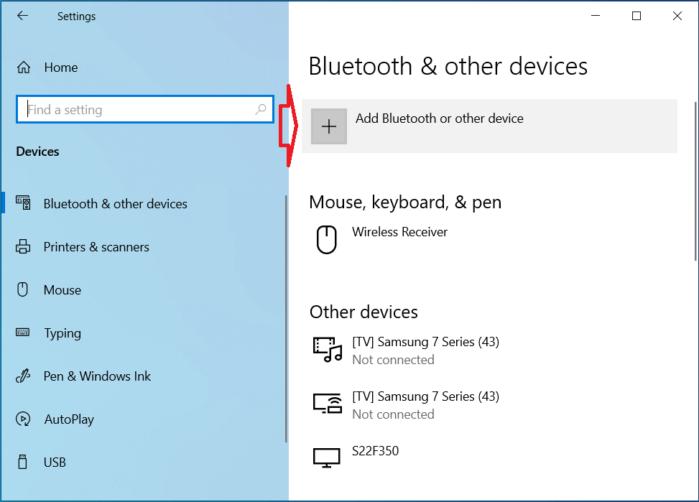 thêm thiết bị Bluetooth mới trong Windows 10