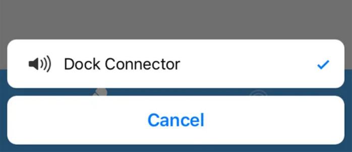âm thanh micro được gửi đến trình kết nối Dock