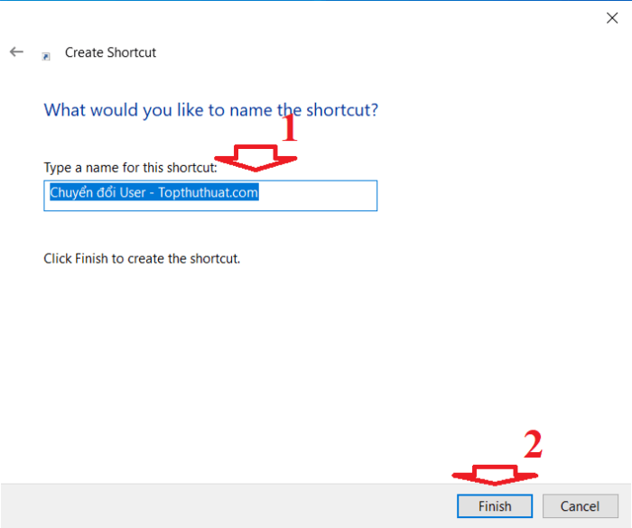 đặt tên cho phím tắt bất kỳ