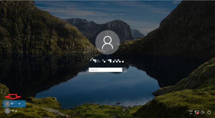 chọn tài khoản người dùng khác trong Windows 10