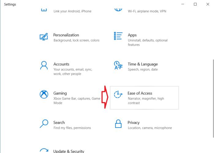 mở ứng dụng Cài đặt Windows 10