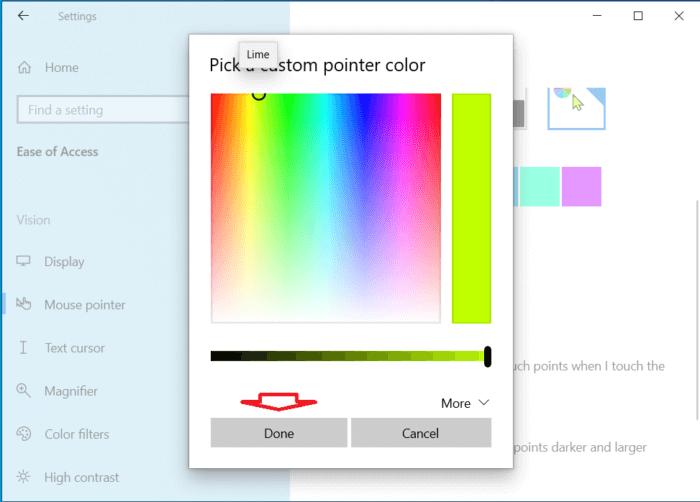 bạn chọn một màu bạn thích trong bảng màu