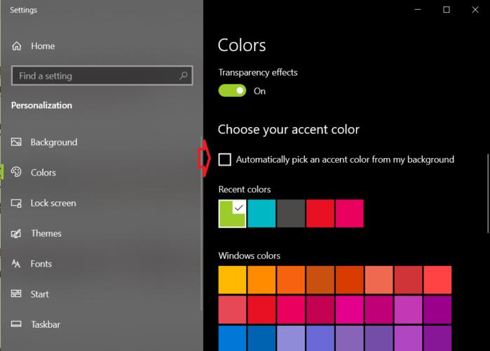 Tự động thay đổi màu taskbar theo hình nền