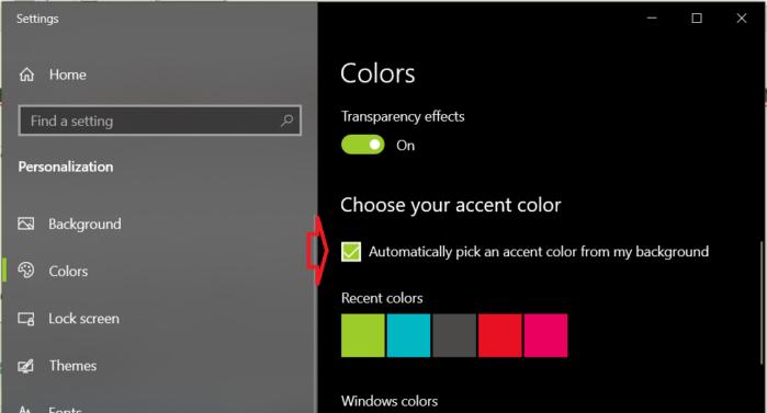Tự động đổi màu sắc thanh Taskbar theo hình nền