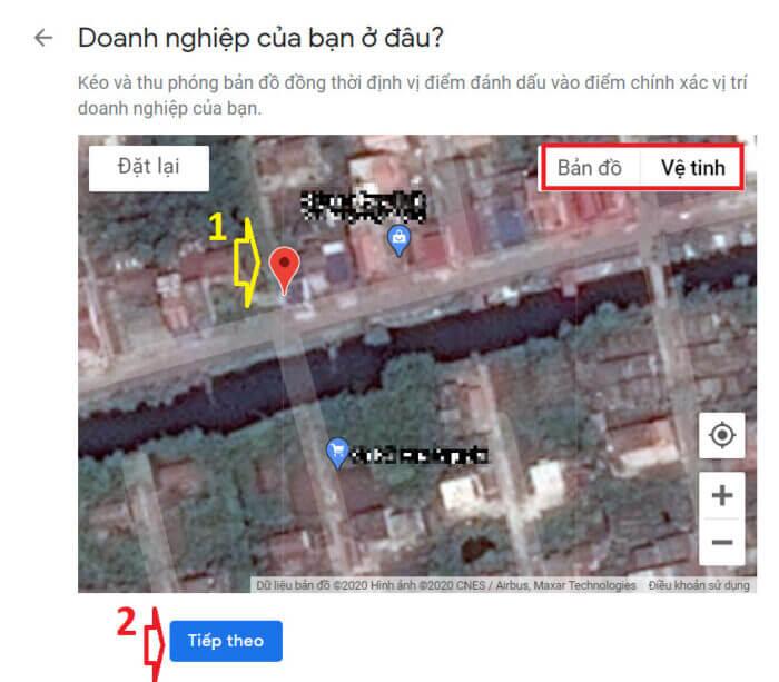 đánh dấu địa điểm trên bản đồ