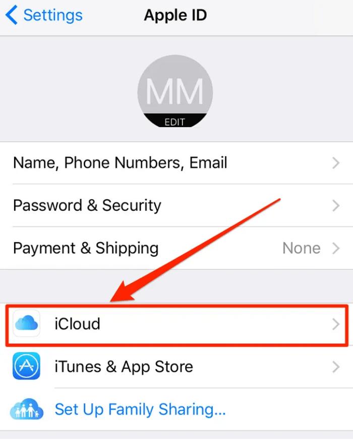 xem và kích hoạt các dịch vụ iCloud khác nhau