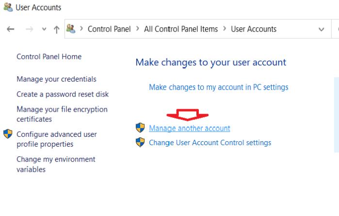 trang quản lý tài khoản user của mình