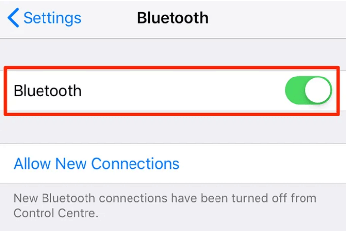 Click on Bluetooth and turn it off