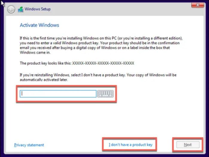 nhập khóa Windows 10 để kích hoạt bản quyền ngay