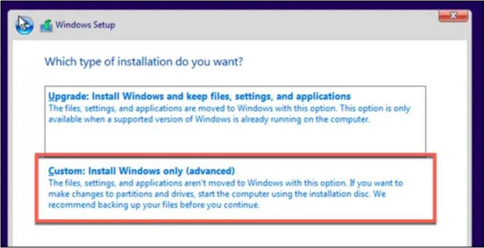 xóa tất cả các tệp khỏi PC của bạn trước khi cài đặt lại Windows
