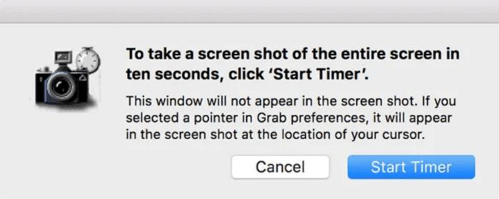 chụp ảnh màn hình sau mười giây trôi qua