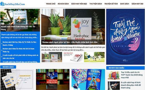 Trang web review sách SachHay24H.com