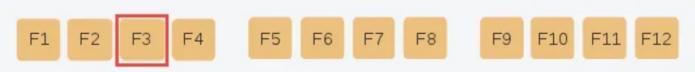 Chức năng của phím F3