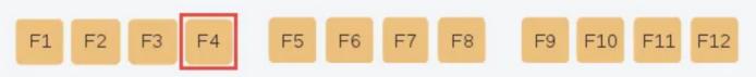 Chức năng của phím F4