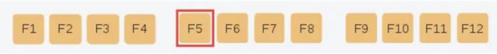 Chức năng của phím F5