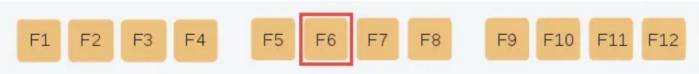 Chức năng của phím F6