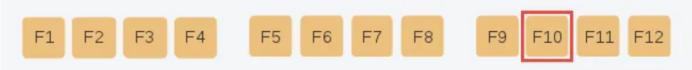 Chức năng của phím F10