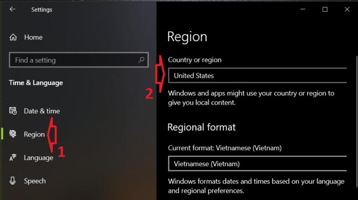 thay đổi quốc gia trước và sau đó mới xóa Vietnamese Keyboard