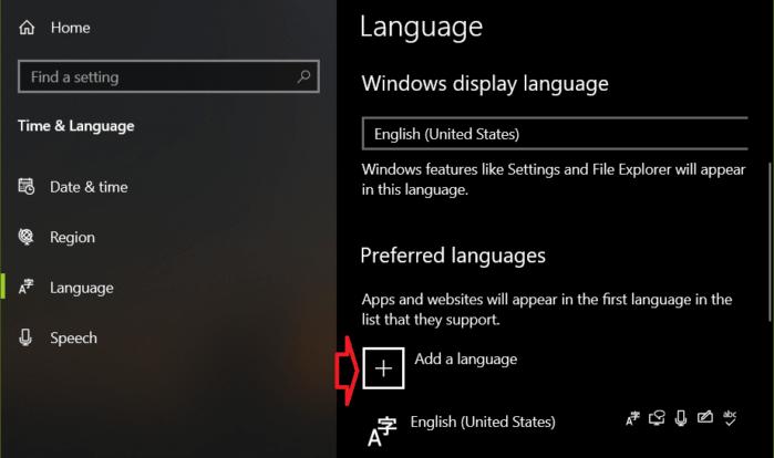 Thêm ngôn ngữ bàn phím mới trong Windows 10