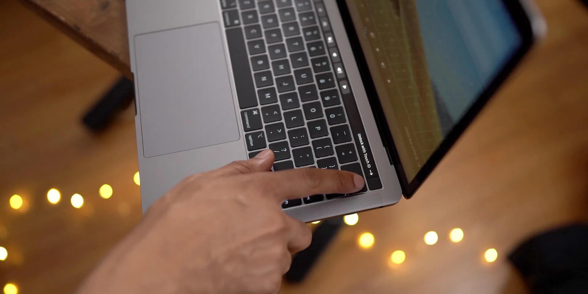 Touch ID tích hợp trên thanh Touch Bar