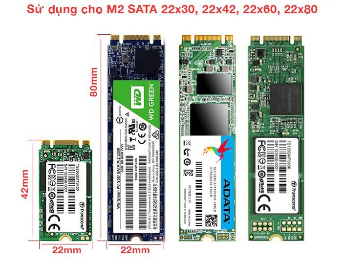 Kích thước các ổ SSD M2