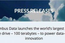 Nimbus giới thiệu ổ SSD 100TB – Dung lượng lớn nhất thế giới