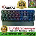 Bàn phím cơ Fuhlen Destroyer Blue Switch Đèn led 10 chế độ - Bản Full Size Sm680R M87s - Bảo...