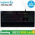 Bàn phím game giả cơ Logitech G213 Prodigy RGB LED (Đen) - Hãng phân phối chính thức